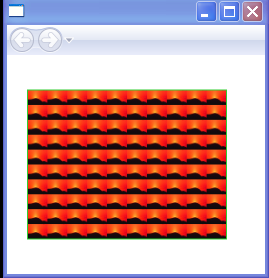 ImageBrush's tiles are set to 10% by 10% of the output area