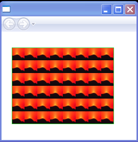 ImageBrush's tiles are set to 25 by 25 pixels