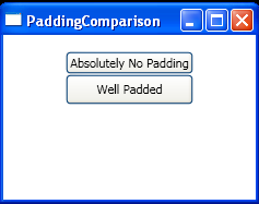 Padding Comparison