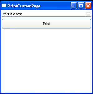 Print Custom Page