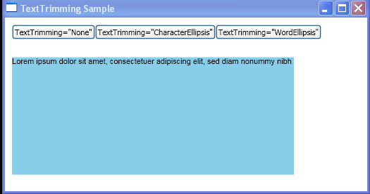 Programmatically change the way in which TextBlock is trimmed when it exceeds the outer boundaries of its containing box.