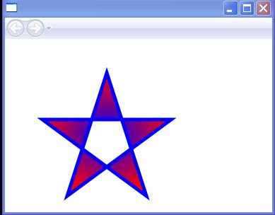 RadialGradient Star