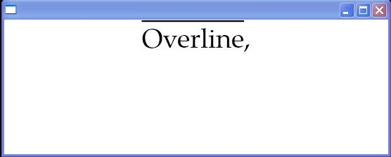 Text decorations: Overline