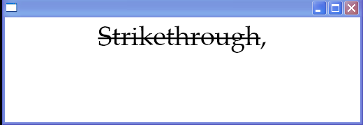 Text decorations: Strikethrough