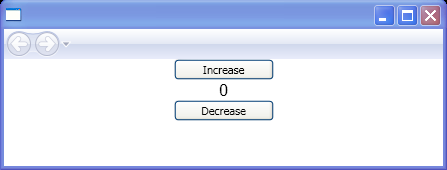 Two repeat buttons that increase and decrease a numerical value.