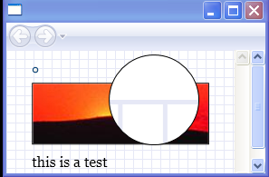 Use a VisualBrush to magnify a portion of the screen.