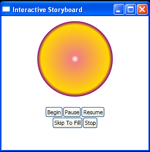 Use Button to stop an Animation with StopStoryboard