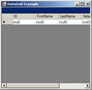Load data from a select statement to DataGrid