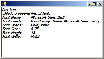 Font Constructor: derive a font