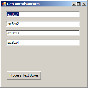 Get controls on a form and verify its type