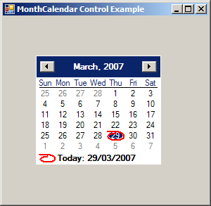 Put MonthCalendar On a Form