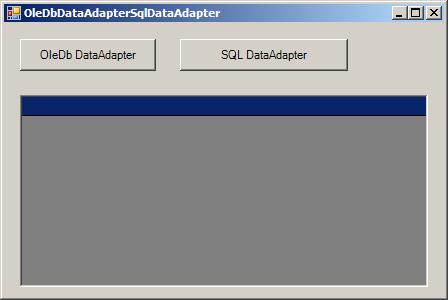 OleDbDataAdapter and SqlDataAdapter: Update