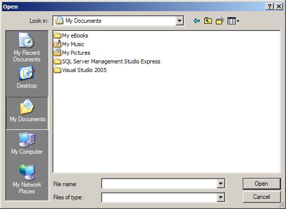 Simple Open file dialog
