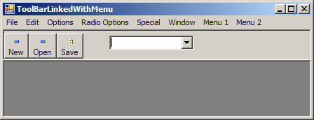 ToolBar Linked With Menu
