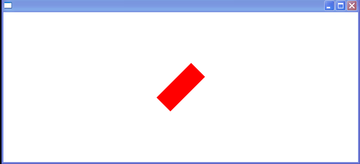 A rectangle with a rotate transformation
