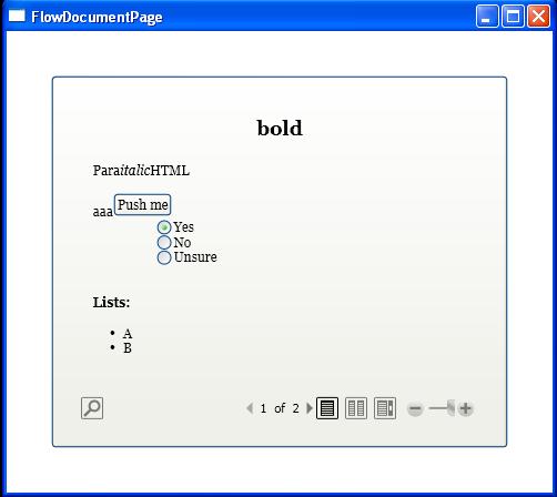 Add FlowDocument to Button