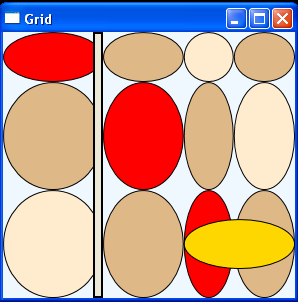 Align Ellipses along with Grid