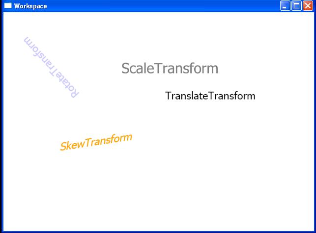 Animated transform
