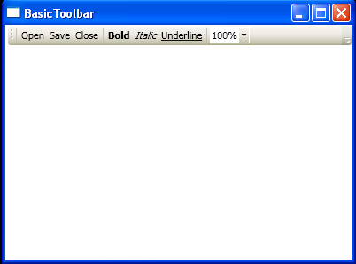 WPF Basic Toolbar