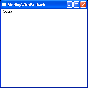 WPF Binding Property With Exception