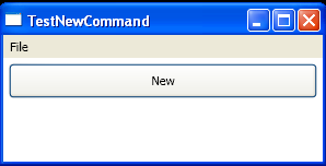 Call ApplicationCommands.New.Execute to execute the command directly