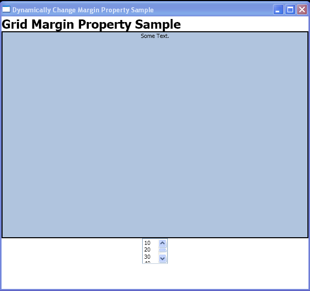 WPF Change The Margins Of An Element That Is Within A Grid By X A M L And Programmatic Code