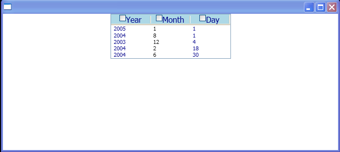 WPF Create A List View Control That Uses A Grid View View Mode To Display A Collection Of Date Time Objects