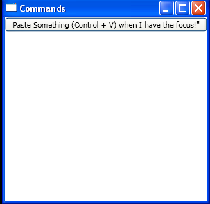 Create CommandBindings in Xaml and bind to Button