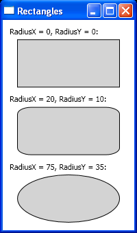 Create rectangles in WPF.