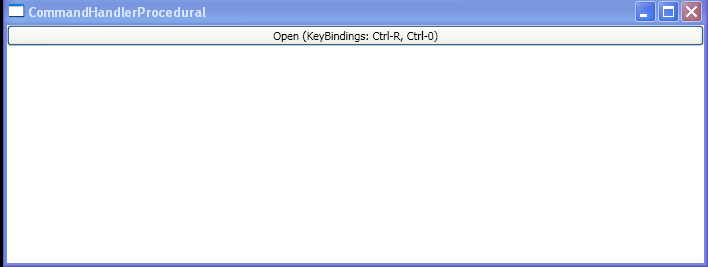 WPF Creating A Key Binding Between The Open Command And Ctrl R