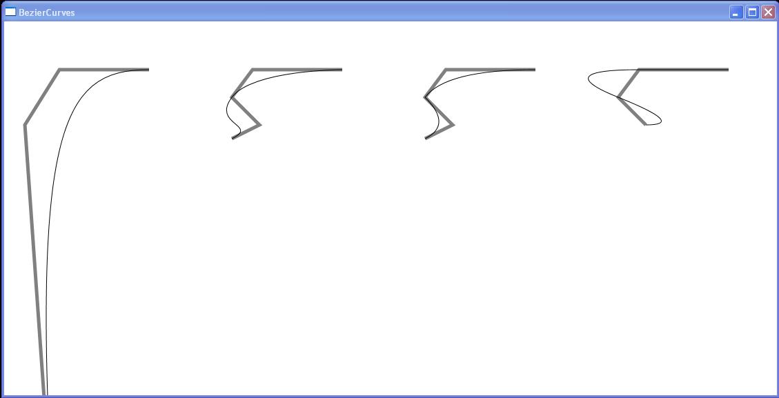 Cubic Bezier, Smooth Bezier, Quadratic Bezier, Smooth Quadratic