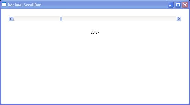 Decimal ScrollBar Window with extending IValueConverter