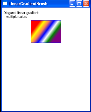 Diagonal linear gradient multiple colors 2