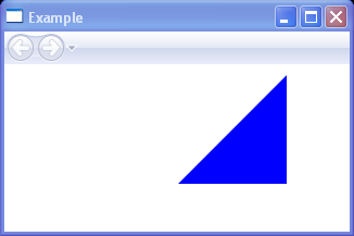 Draws another triangle with a blue interior with Polygon
