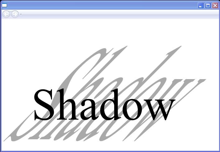 Empirical Tilted Text Shadow