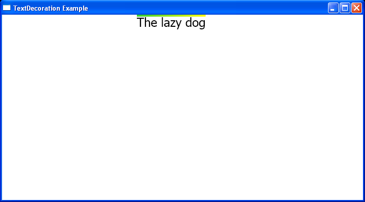 WPF Fill The Overline Decoration With A Linear Gradient Brush In C