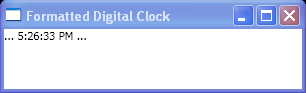 Formatted Digital Clock