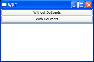 Implement Application.DoEvents in WPF