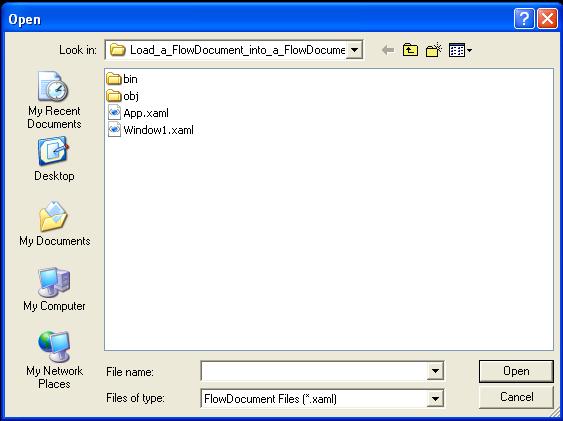 Load a FlowDocument into a FlowDocumentReader,