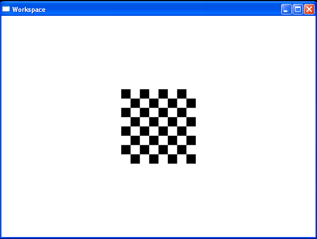 Paints a rectangle with a checkered pattern.