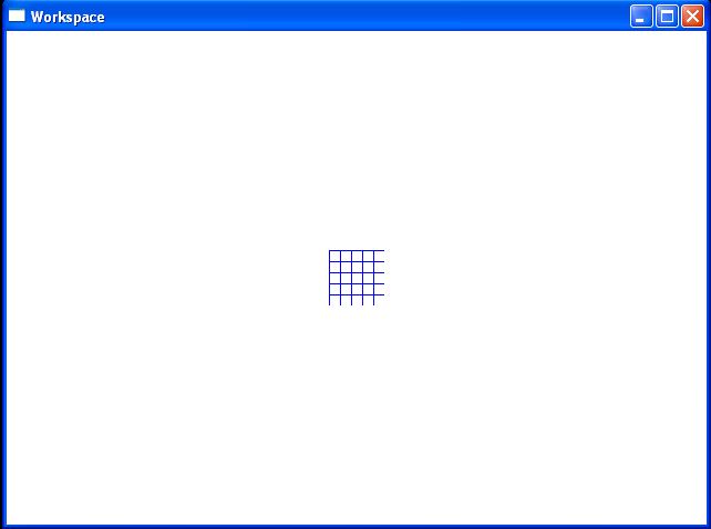 Paints a rectangle with a grid pattern