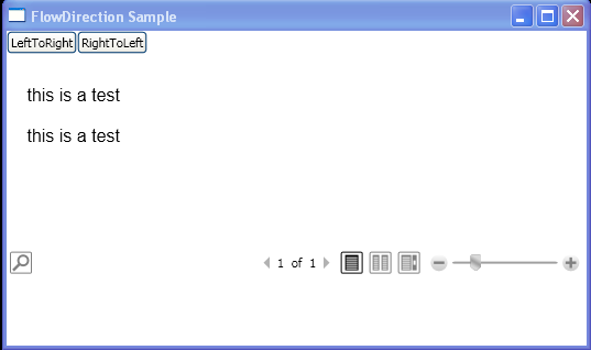 Programmatically change the FlowDirection of content within a FlowDocumentReader element