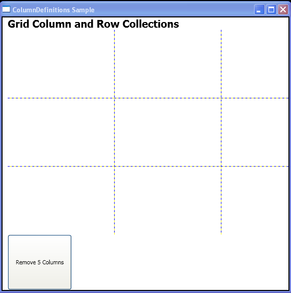 WPF Remove5 Columns With Column Definitions Remove Range