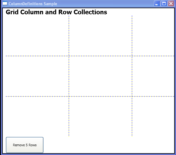 WPF Remove5 Row With Row Definitions Remove Range