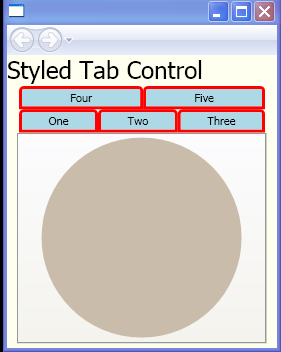 wpf tabcontrol template - style tabitem tabcontrol windows presentation