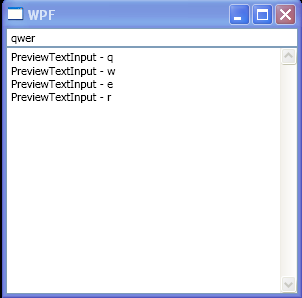 WPF Text Box Preview Text Input
