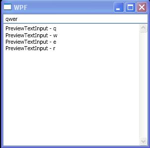 TextBox PreviewTextInput