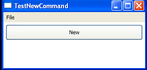 Use CommandBinding to bind ApplicationCommands.New in code
