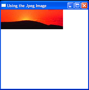 Using the Jpeg Image