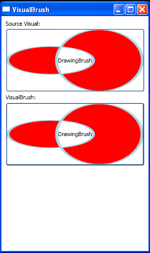 WPF Visual Brush And Drawing Brush